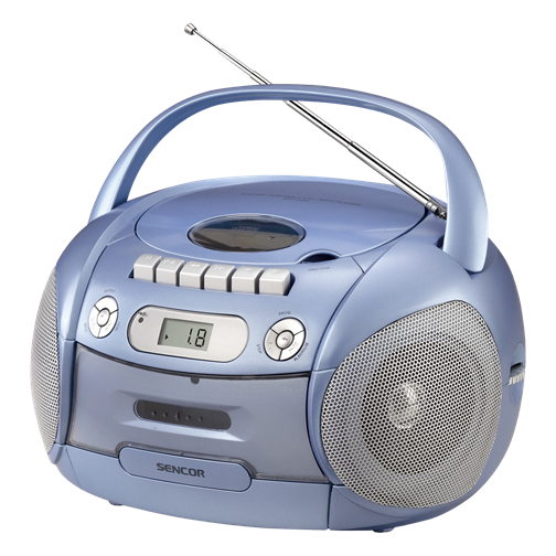 SPT 206 Portable Radio CD , MP3 Player with Cassette Recorder